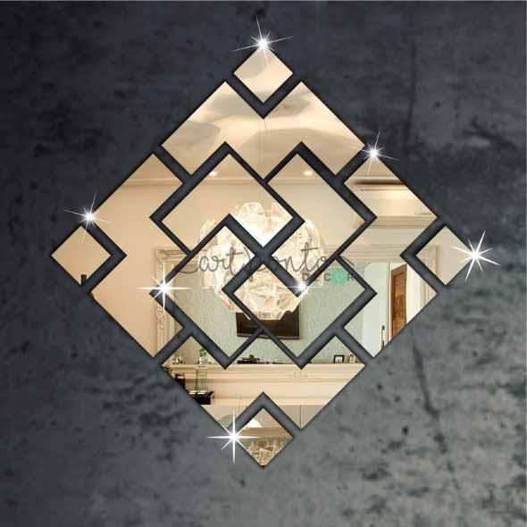 Espelhos triangulares na decoração 014