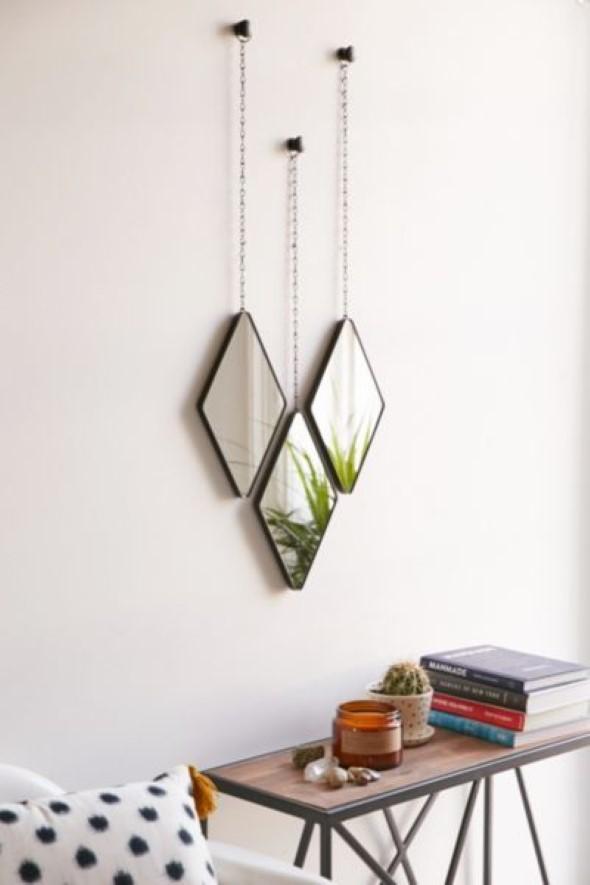 Espelhos triangulares na decoração 016