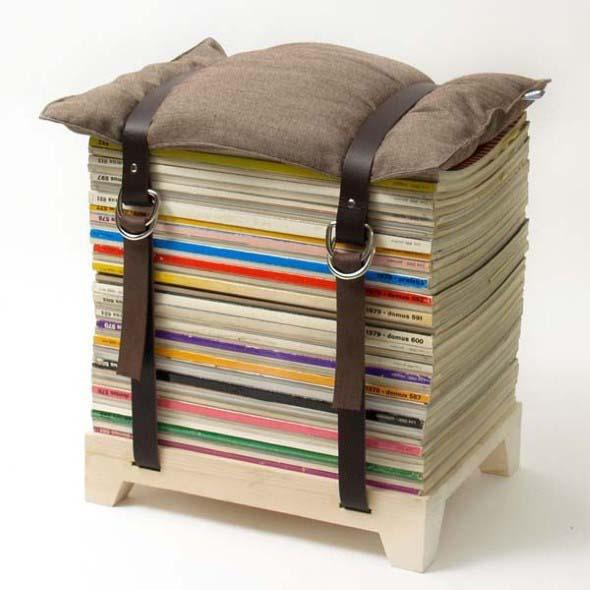 Ideias de decoração com livros velhos 003