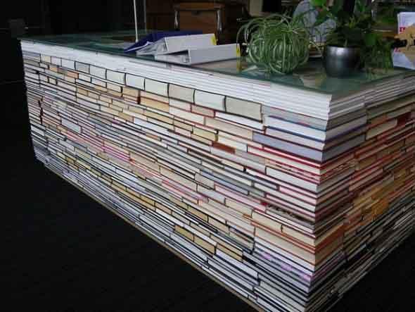 Ideias de decoração com livros velhos 004