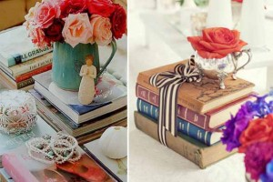 Ideias de decoração com livros velhos 012