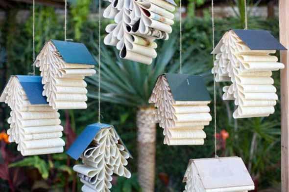 Ideias de decoração com livros velhos 015