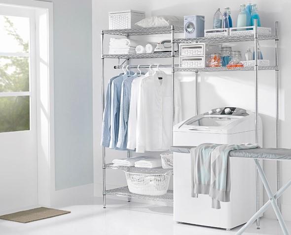 Organizar roupas na lavanderia 001