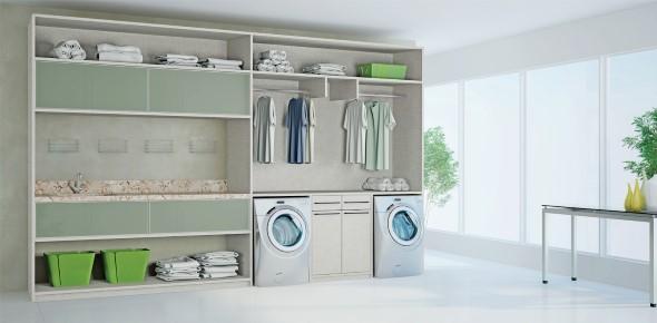 Organizar roupas na lavanderia 013