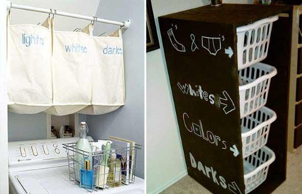 Organizar roupas na lavanderia 015