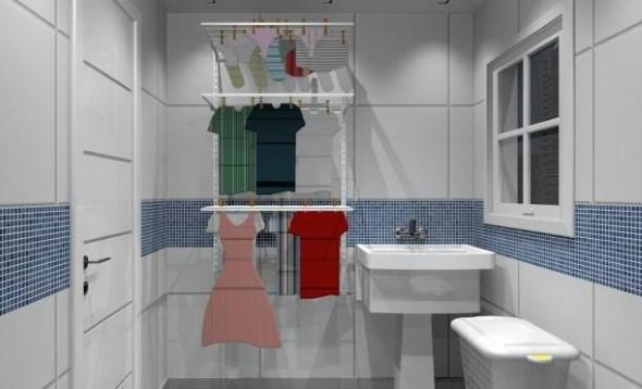 Organizar roupas na lavanderia 016