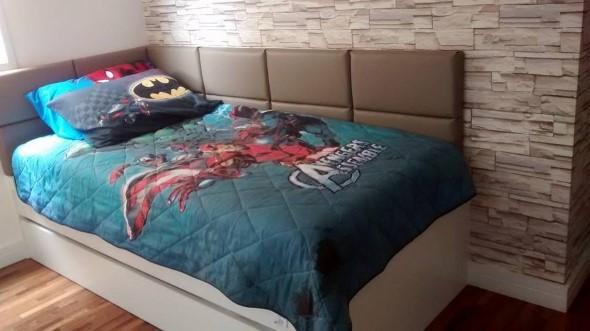 Cabeceira de cama estofada 008