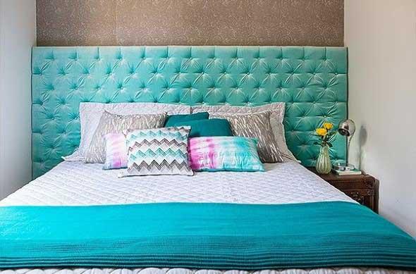 Cabeceira de cama estofada 012