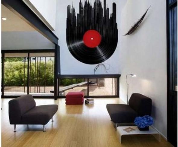 Decoração de ambientes com estilo musical 002