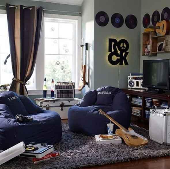 Decoração de ambientes com estilo musical 005