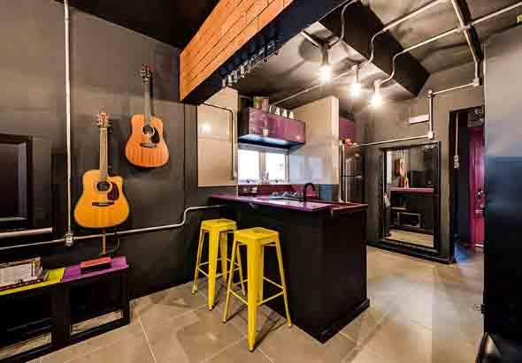 Decoração de ambientes com estilo musical 007