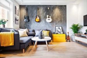 Decoração de ambientes com estilo musical 014