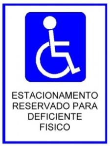 Estacionamento para Deficiente Físico