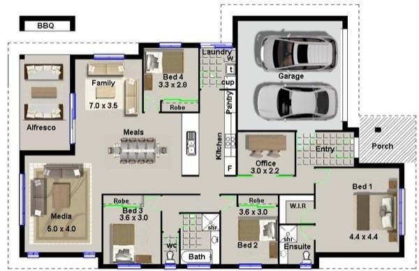 7-modelos de plantas de casas