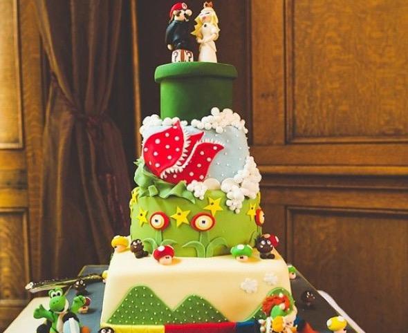2-bolo de casamento geek