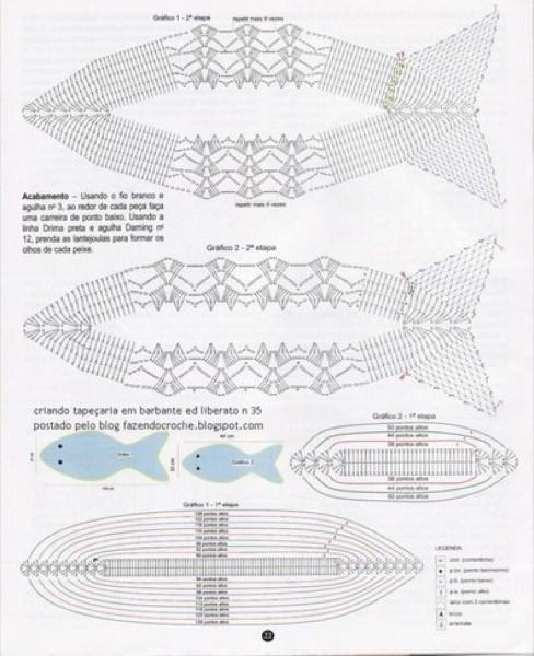 14-Tapetes de Barbante com gráficos