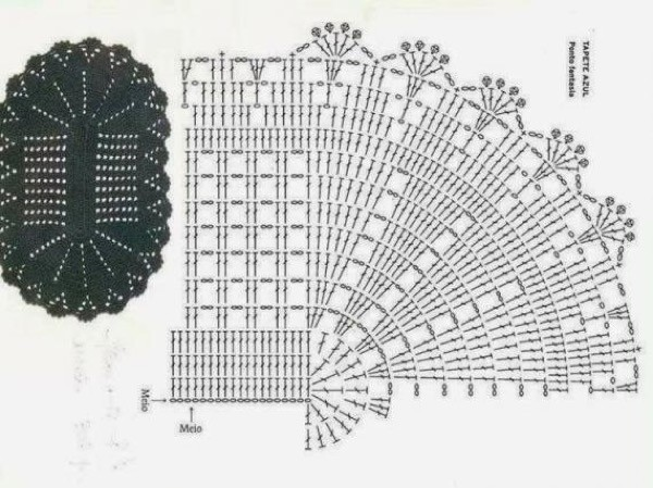 29-Tapetes de Barbante com gráficos