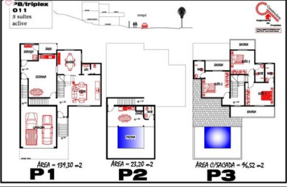 10-plantas de casas triplex