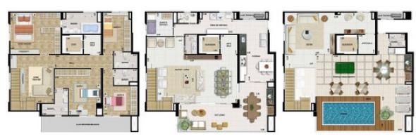 15-plantas de casas triplex