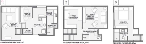 6-plantas de casas triplex