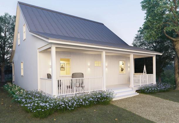 planta de casa de campo cottage