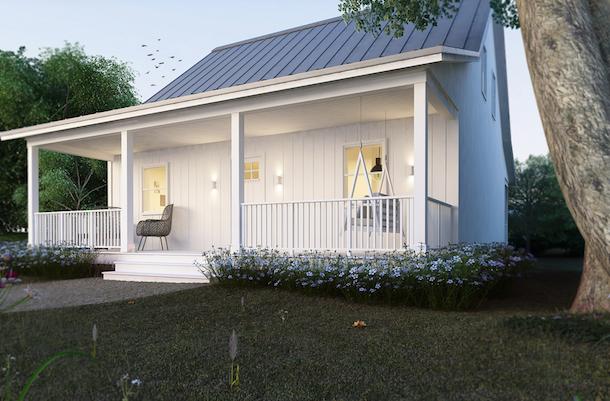 planta de casa de campo cottage1