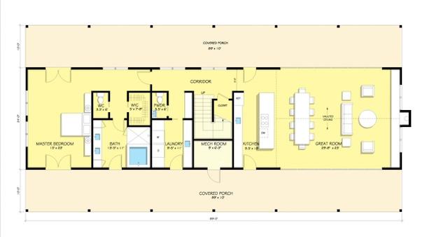 planta do segundo pavimento da casa de campo2