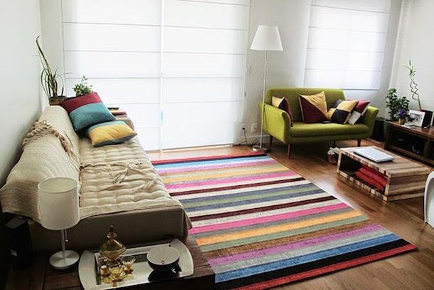 tapetes para decorar a sala-15