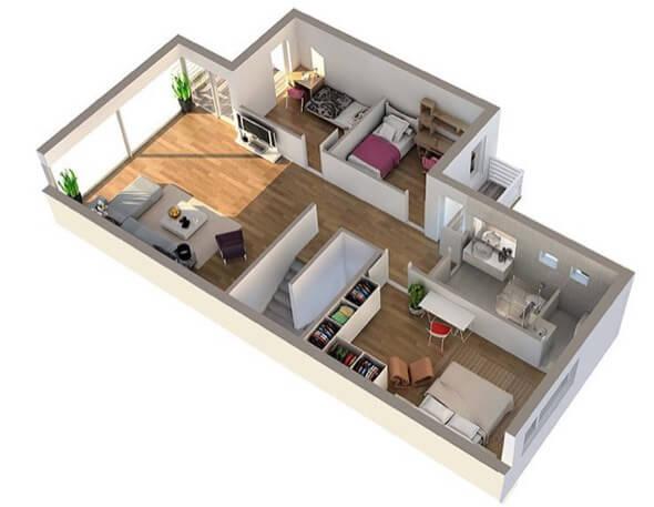13-plantas de casas 3d modelos