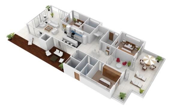 16-plantas de casas 3d modelos