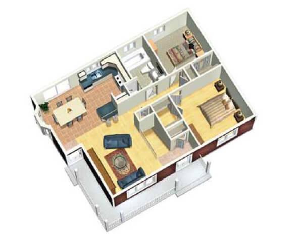 22-plantas de casas 3d modelos