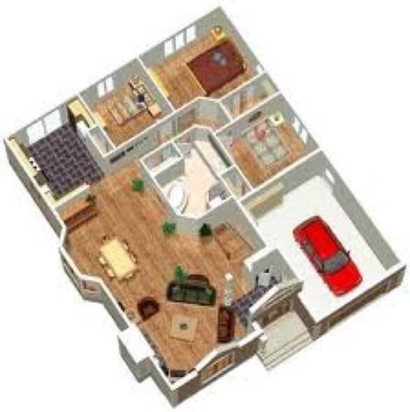 26-plantas de casas 3d modelos