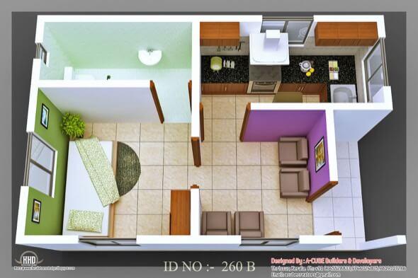 30-plantas de casas 3d modelos