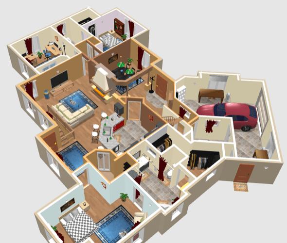 31-plantas de casas 3d modelos