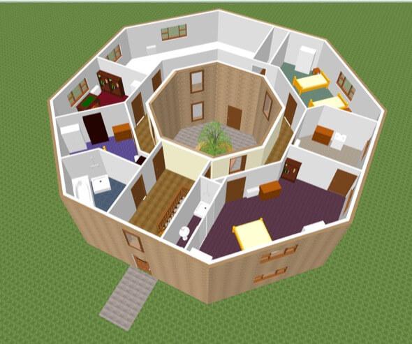32-plantas de casas 3d modelos