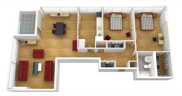 35-plantas de casas 3d modelos