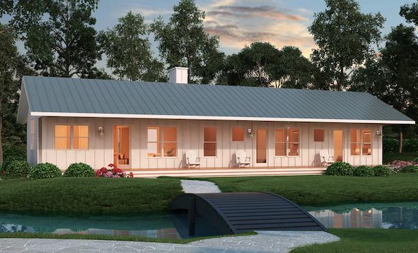 planta de casas pequenas o rancho na cidade