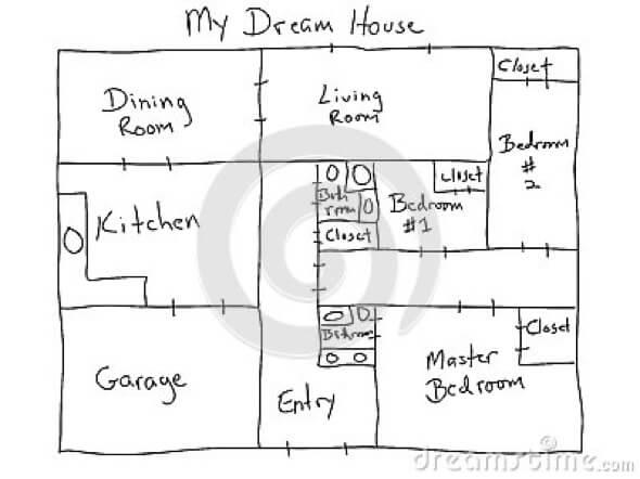 5-desenhar plantas de casas a maos livre