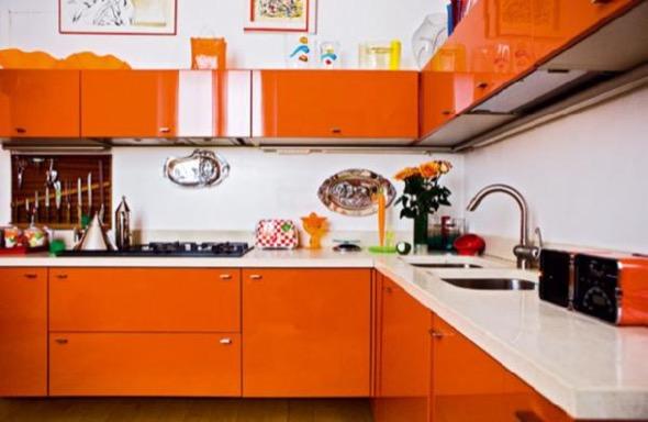 11-armarios de cozinha laranja