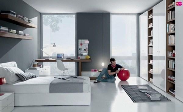 24-parede cinza na decoração salas e quartos
