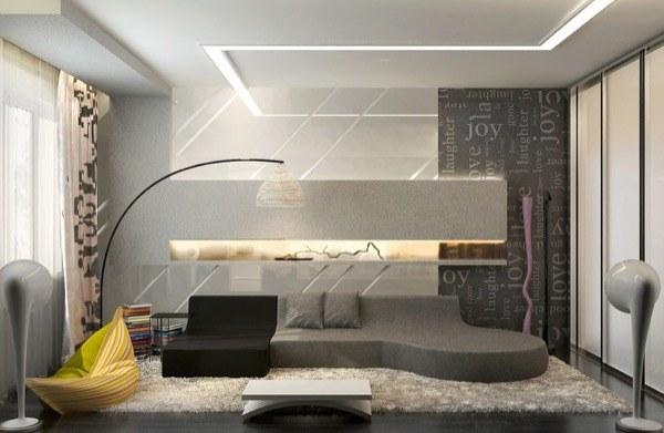 35-parede cinza na decoração salas e quartos