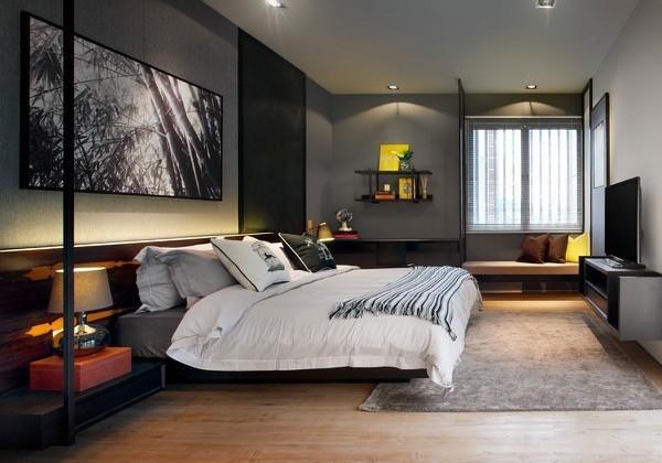 39-parede cinza na decoração salas e quartos