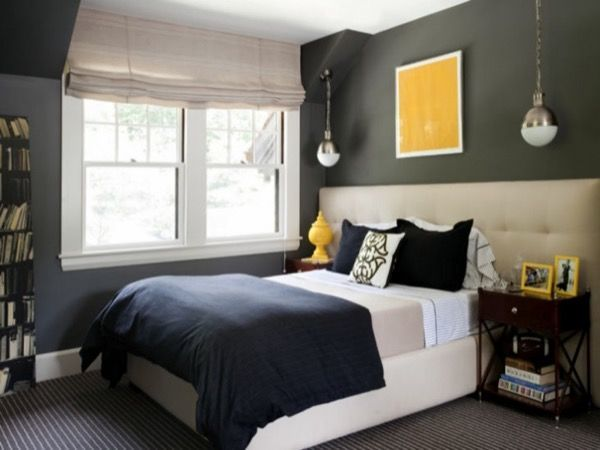43-parede cinza na decoração salas e quartos