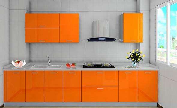 8-armarios de cozinha laranja