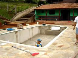 Construir piscina blocos