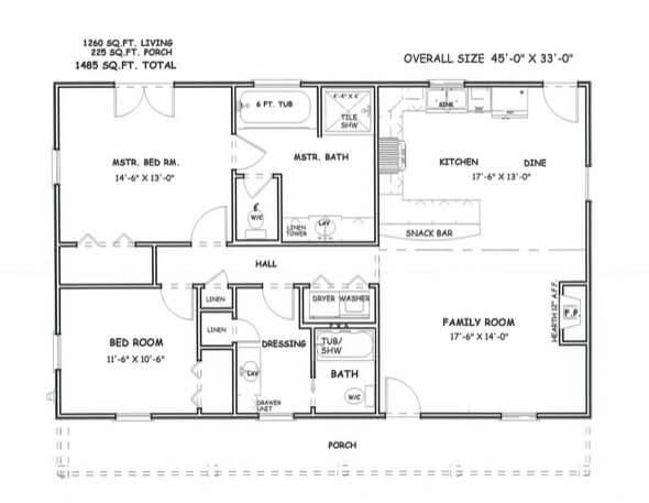 13-plantas de casas 3 quartos modelos