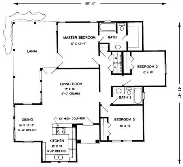 20-plantas de casas 3 quartos modelos