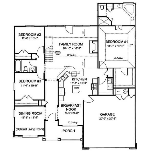27-plantas de casas 3 quartos modelos