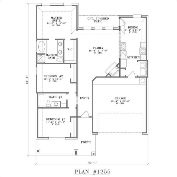 28-plantas de casas 3 quartos modelos