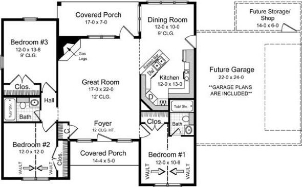 36-plantas de casas 3 quartos modelos